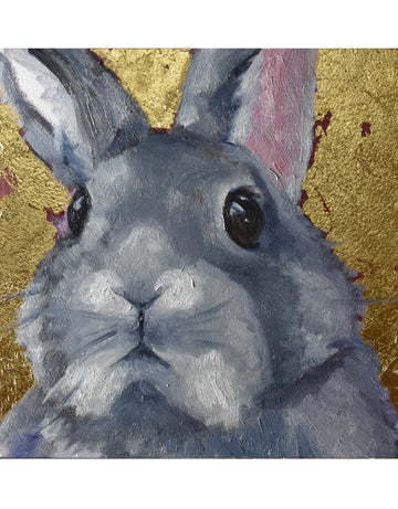 Day Two, Sweet Bunny with Gold Metal Leafing - Maisy the bunny
