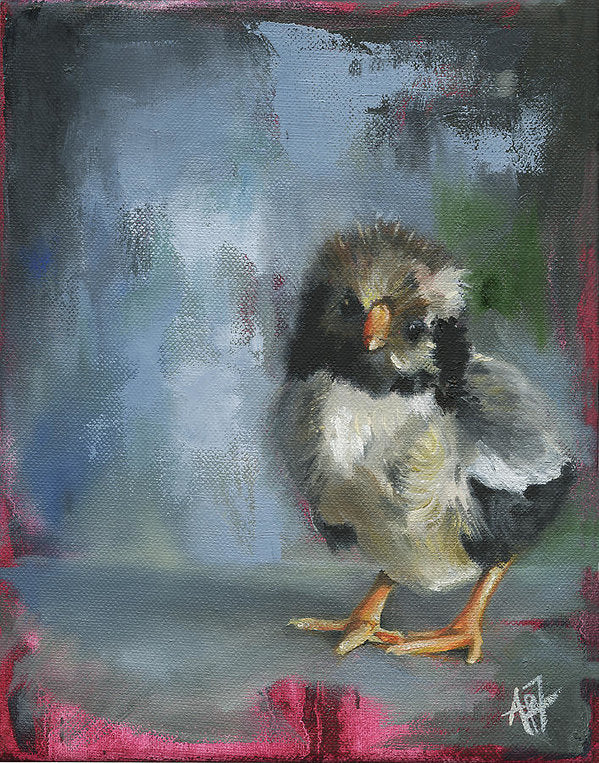 Awake My Soul Grey Chick - Art Print