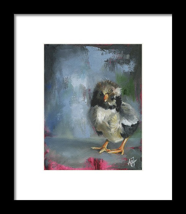 Awake My Soul Grey Chick - Framed Print