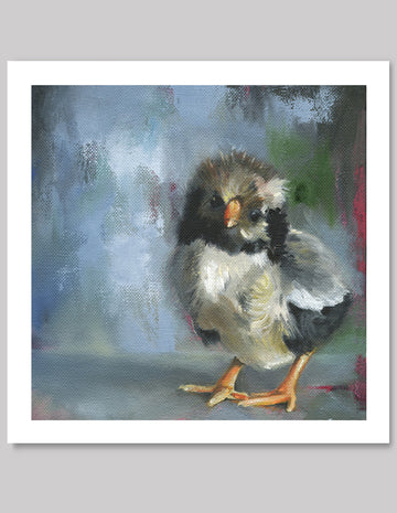 Grey Chick, Beautiful Limited Edition Giclee Print 7