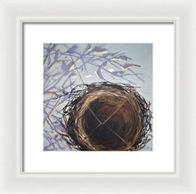 Nest With Muted Shadows - Framed Print