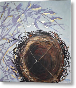 Nest With Muted Shadows - Metal Print
