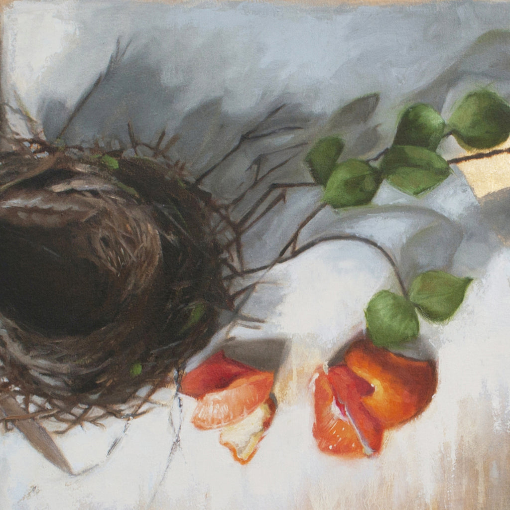 "Southern Still Life, 24"" x 40"" x 2"" Oil Painting on Gallery Stretched Canvas - Andie Freeman"