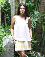 Nita in Khaki with Yellow Ikat Weave