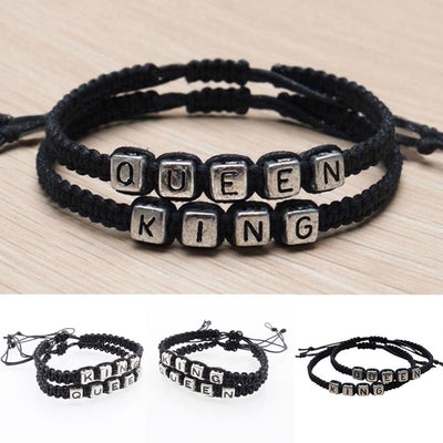 1 Pair Handmade Couple Bracelet King And Queen Gift Handled