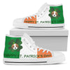 Happy St. Patrick's Day Beagle High Top Shoes