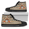 Indian Cat Ethnic Pattern High Top Shoes