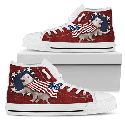 Samoyed Independence Day High Top Shoes