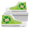 Happy St. Patrick's Day Vintage Style Labrador High Top Shoes