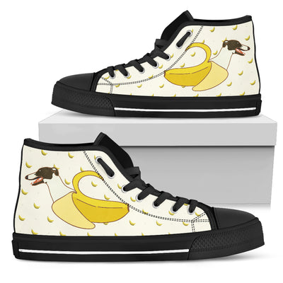 High Top Shoes Greyhound Inside Banana Funny Gift