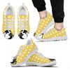 Boxer Face Pastel Yellow White Dot Vintage Sneakers