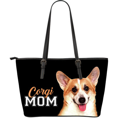 Corgi Mom Leather Bag