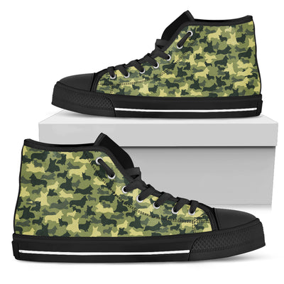 Camouflage Soldier Military Corgi High Top Shoes