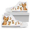 Chihuahua Face Pattern High Top Shoes