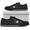 White Unicorn Lying Firework Cool Black Low Top Shoes