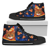 Pizza Cat Pattern High Top Shoes