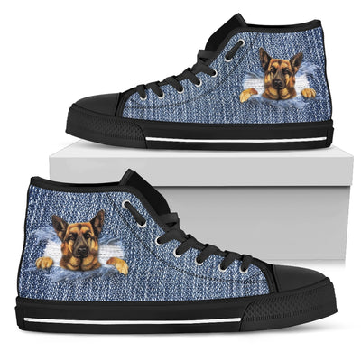 Break The Wall German Shepherd High Top Shoes