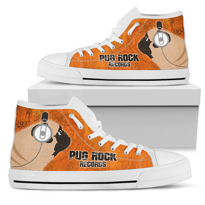 Pug Orange Rock Records High Top Shoes