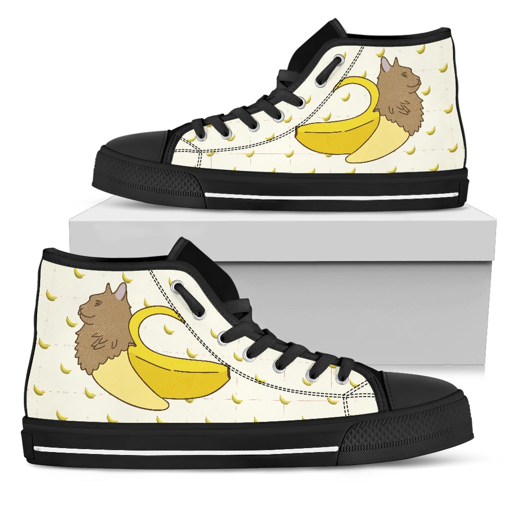 3cdda66f22 High Top Shoes Cat Inside Banana Funny Gift - Gift For Crush