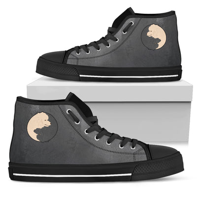 Poodle Yin Yang Style High Top Shoes