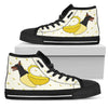 High Top Shoes Doberman Inside Banana Funny Gift