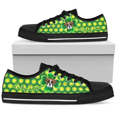 Happy St. Patrick's Day Vintage Style Boxer Low Top Shoes