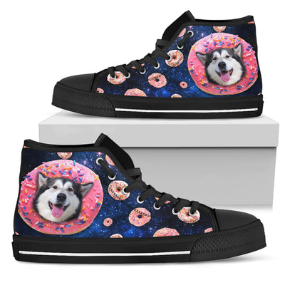Donut Husky Pattern High Top Shoes