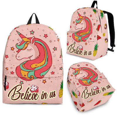 Sweet Rainbow Unicorn - Ice Cream Donut Heart Backpack