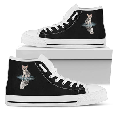 Cat Dream Reflect Water High Top Shoes