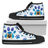 German Shepherd Paws High Top Shoes