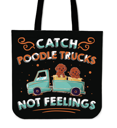 Catch Poodle Trucks Tote Bag