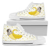 High Top Shoes Pug Inside Banana Funny Gift