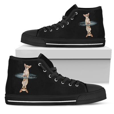 High Top Shoes Chihuahua Dream Reflect Water