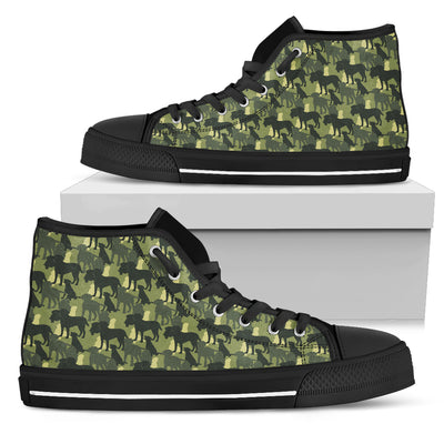 Camouflage Soldier Military Labrador High Top Shoes