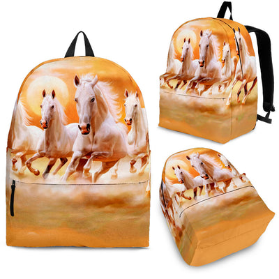 Horse Running In The Sunset Backpack