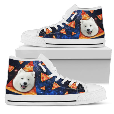 Pizza Samoyed Pattern High Top Shoes