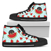 Eating Watermelon Dachshund Pattern High Top Shoes