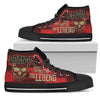 Grandpa The Men The Myth The Legend Vintage Design High Top Shoes V2