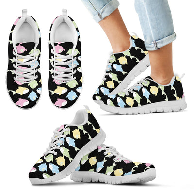 Baby Shark Pastel Dot Mini Stripes Pattern Sneakers