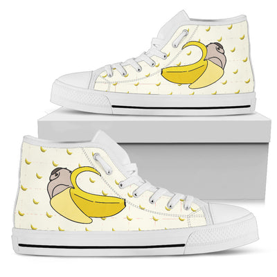 High Top Shoes Owl Inside Banana Funny Gift