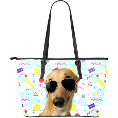 Greyhound Wearing Sunglasses Fashionable Pattern Leather Bag
