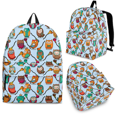 Owl Colorful Magician Tribal Owls Cute Light Backpack