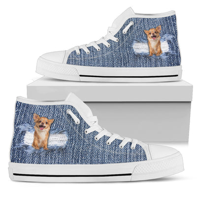 Break The Wall Chihuahua High Top Shoes