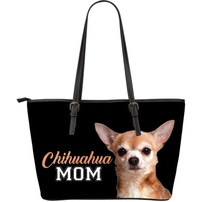 Chihuahua Mom Leather Bag