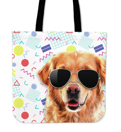 Labrador Wearing Sunglasses Fashionable Pattern Tote Bag