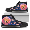 Donut Labrador Pattern High Top Shoes