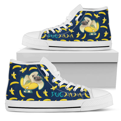 Nice Pug High Top Shoes - Pugnana, is a cool gift for friends