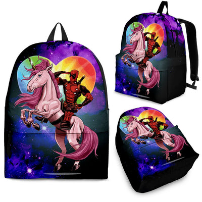 Deadpool On An Unicorn Backpack