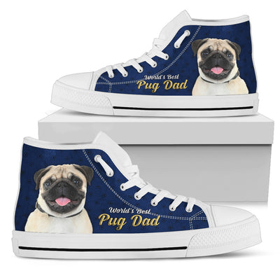 Nice Pug High Top Shoes - World's Best Pug Dad, is a cool gift