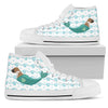 High Top Shoes Boxer Mermaid Unicorn Cute Beach Swim